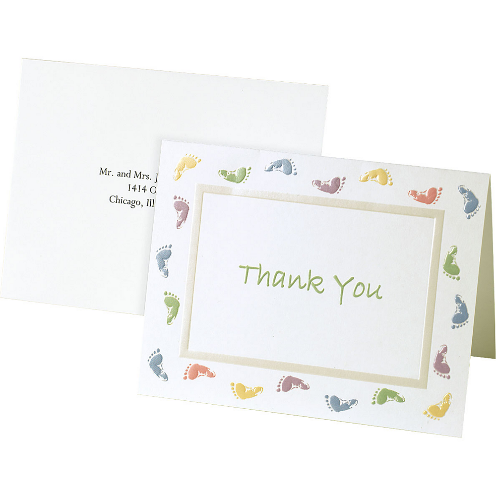 Baby Feet Baby Shower Thank You Notes 20ct Party City