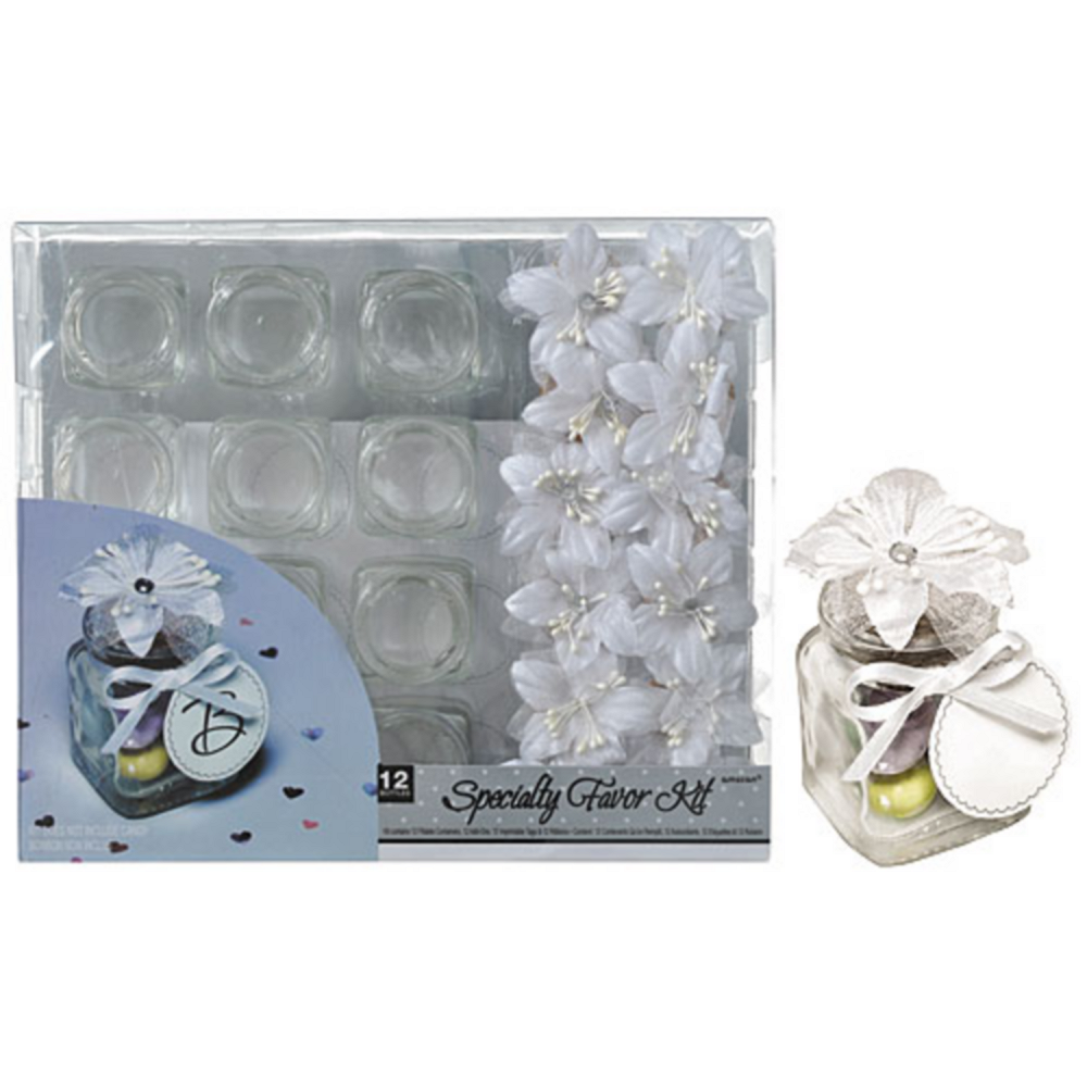 Glass Jar Wedding Favor Kit 12ct Party City