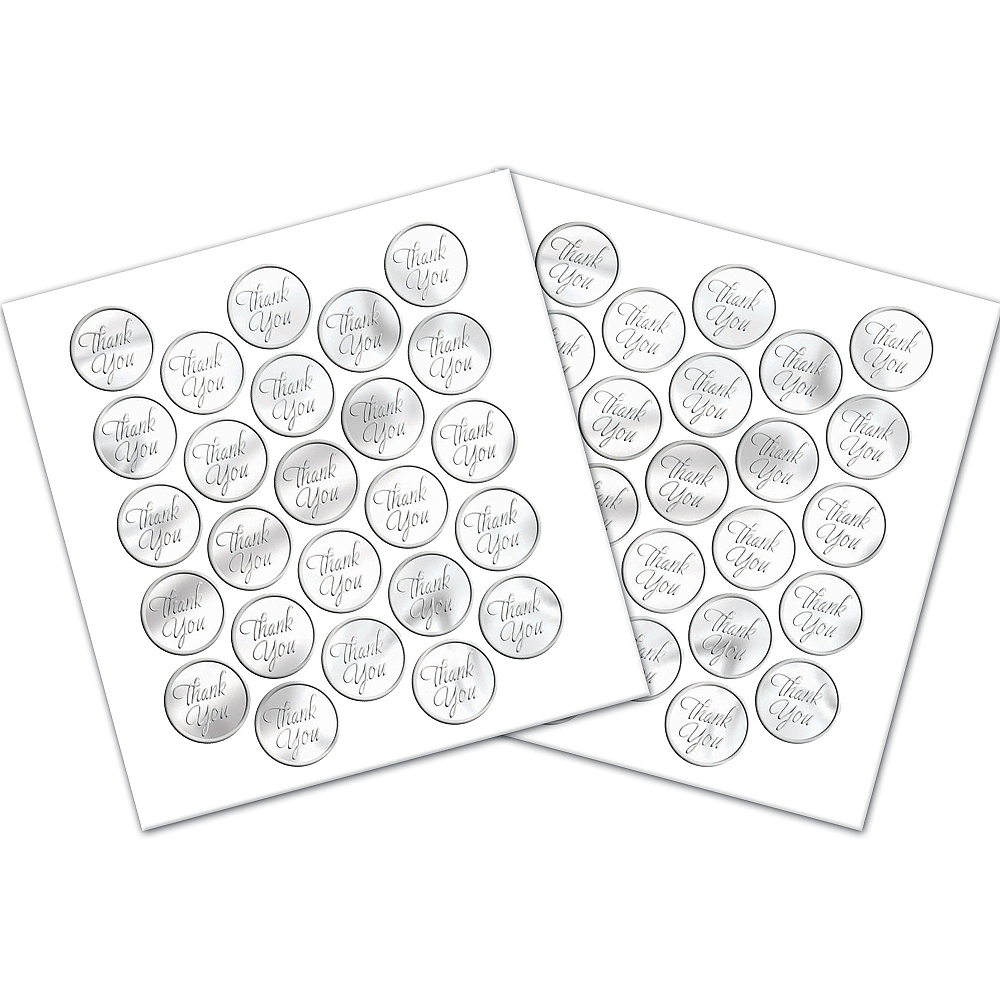 CLEAR Thank You Sticker Seals 50ct Image #1