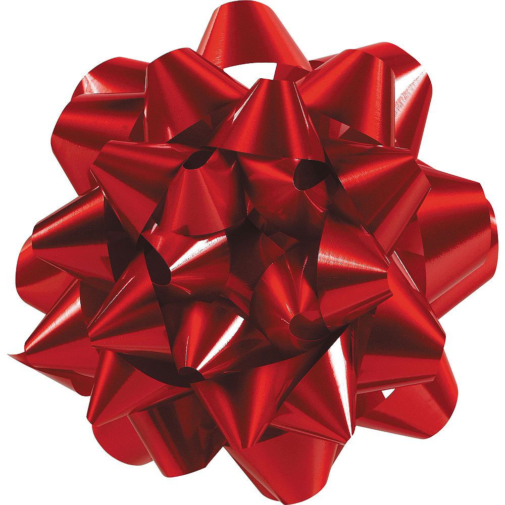 Red Gift Bow 9in