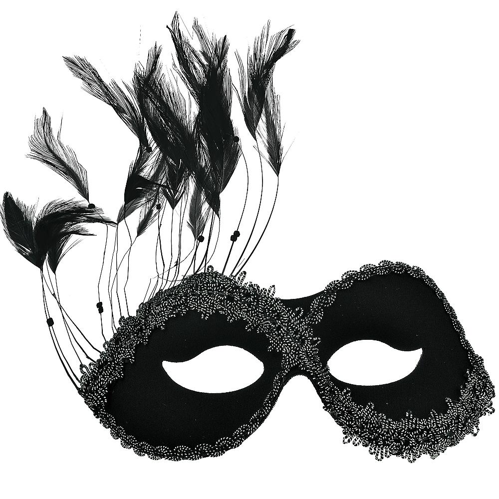 Black Persuasion Masquerade Mask Image #1
