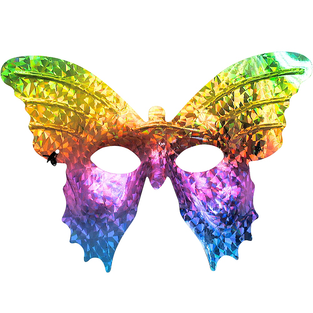 Prismatic Rainbow Butterfly Mask Image #1