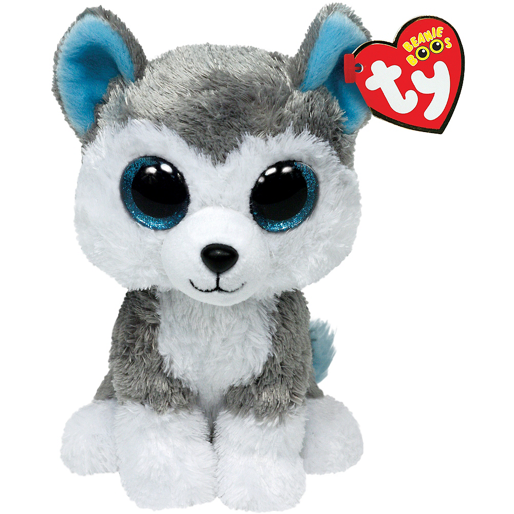 Nav Item for Slush Beanie Boo Husky Dog Plush Image #1