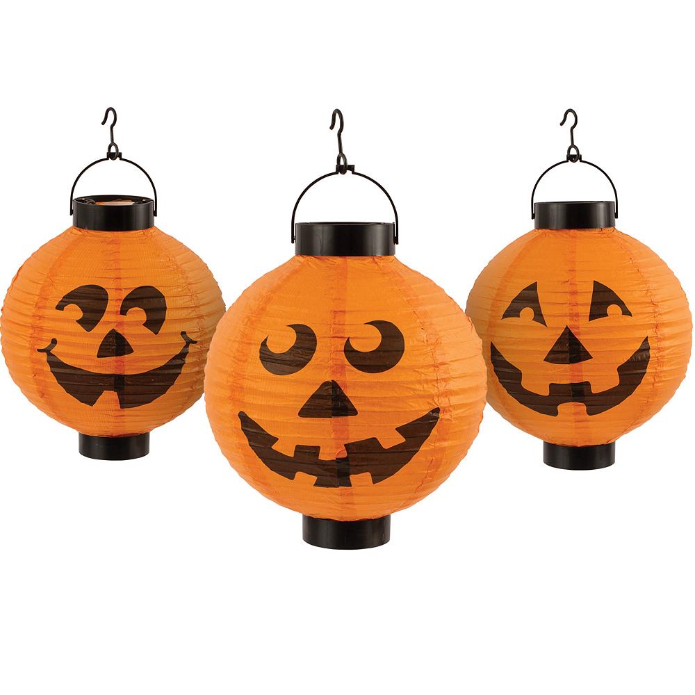 Pumpkin Lantern String Lights 3ct Image #1