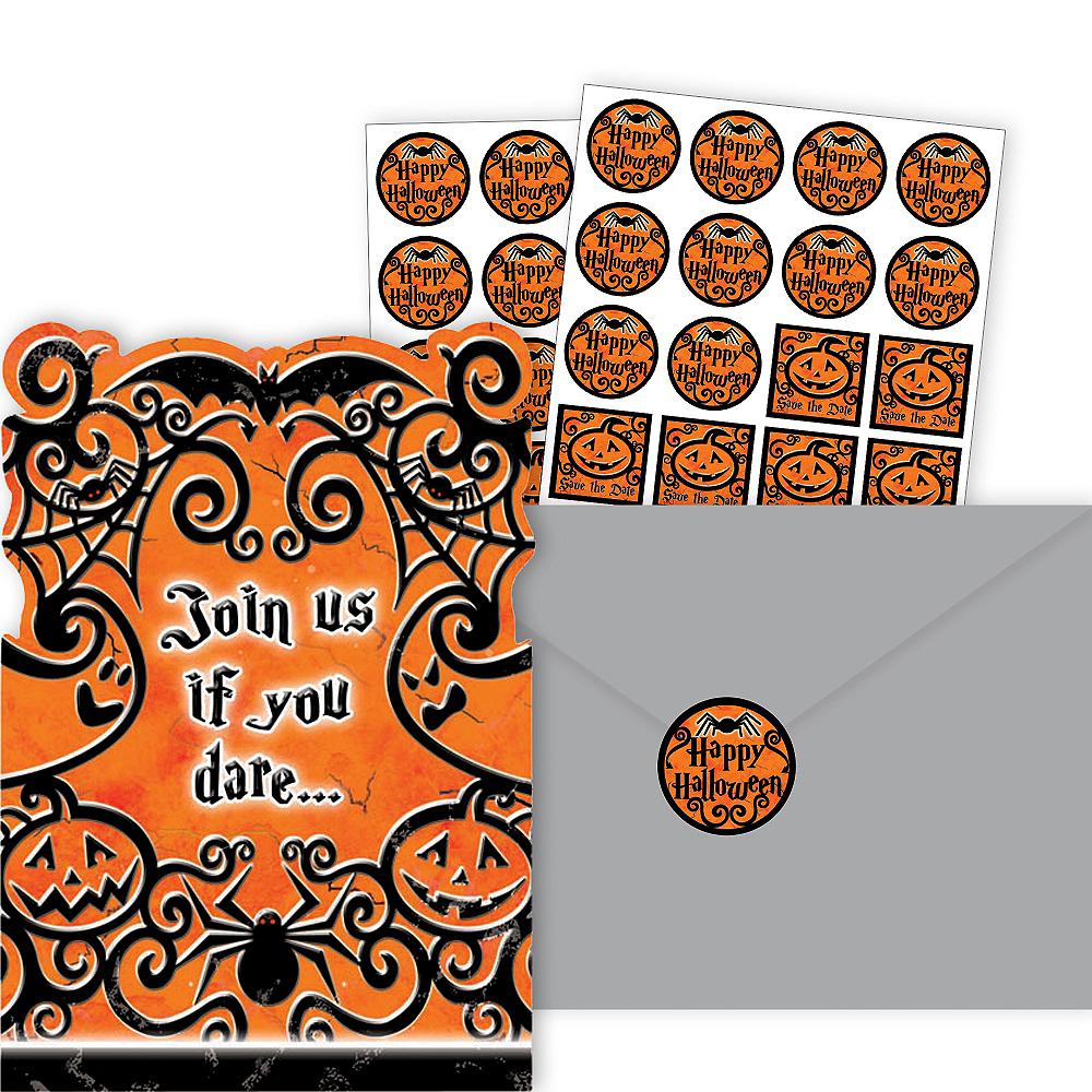Gothic Greetings Halloween Invitations 20ct Image #1