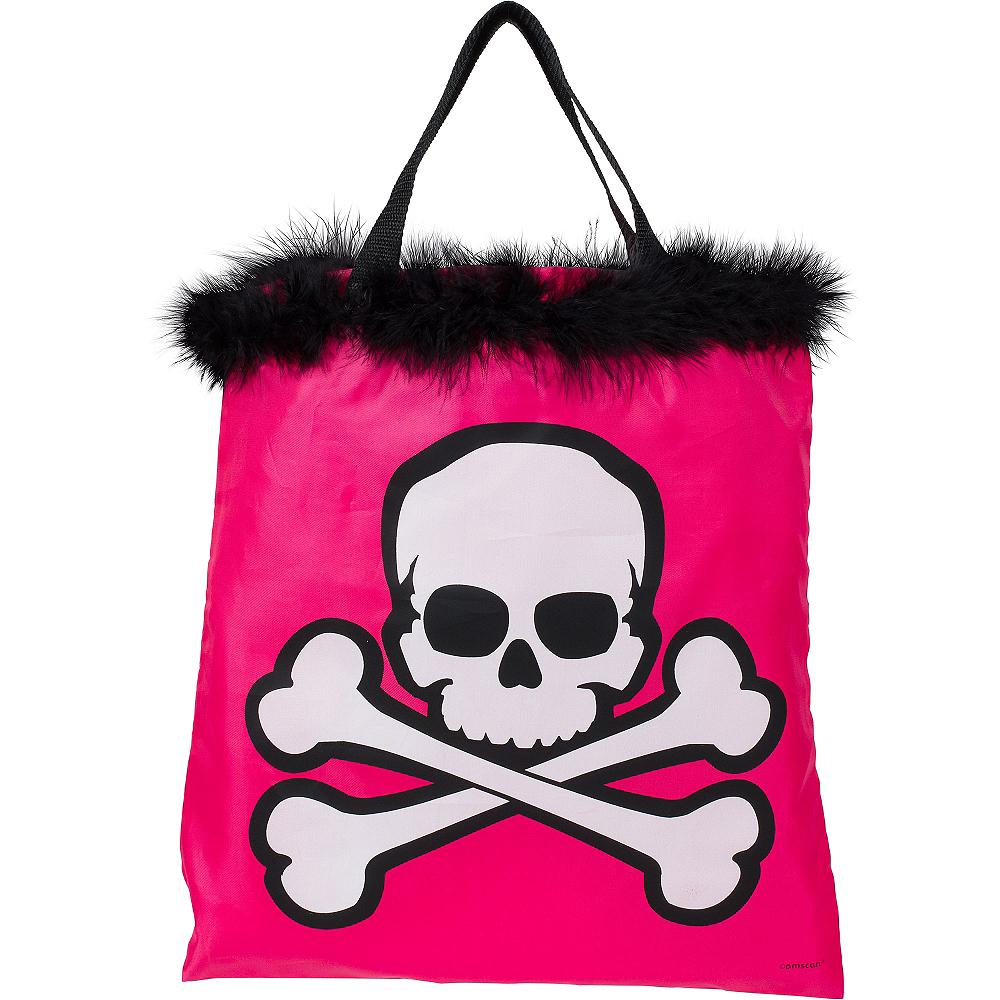 Pink Skull Trick or Treat Bag Image #1