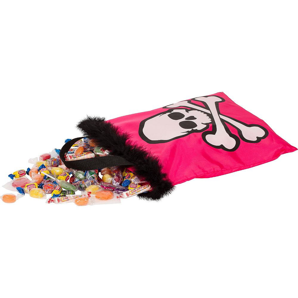 Pink Skull Trick or Treat Bag Image #2
