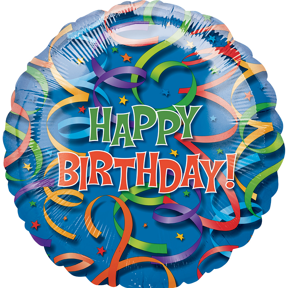 Celebration Streamers Happy Birthday Balloon Image #1