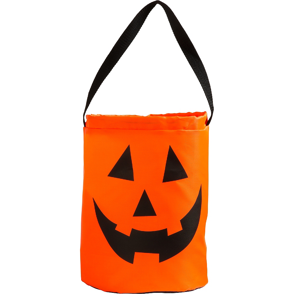 Jack-o'-Lantern Drawstring Treat Bag Image #1