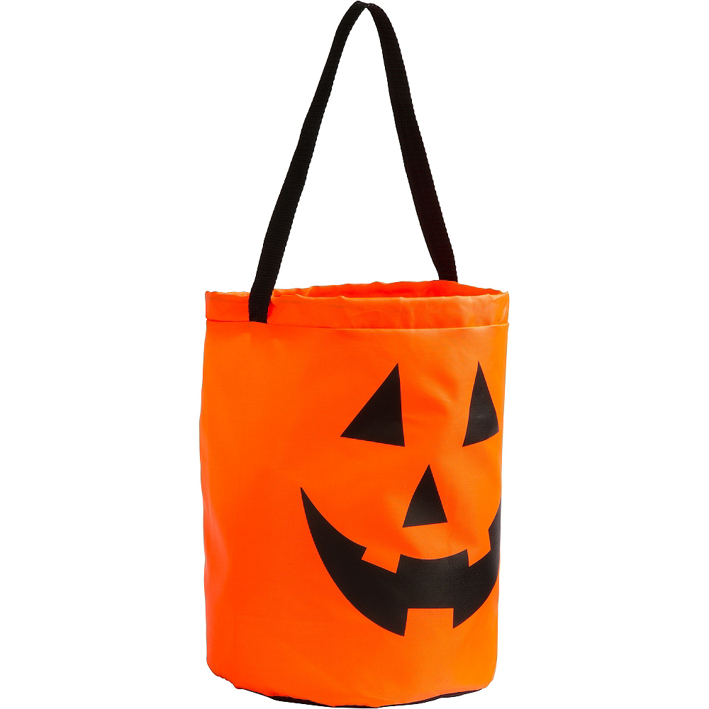 Jack-o'-Lantern Drawstring Treat Bag Image #2