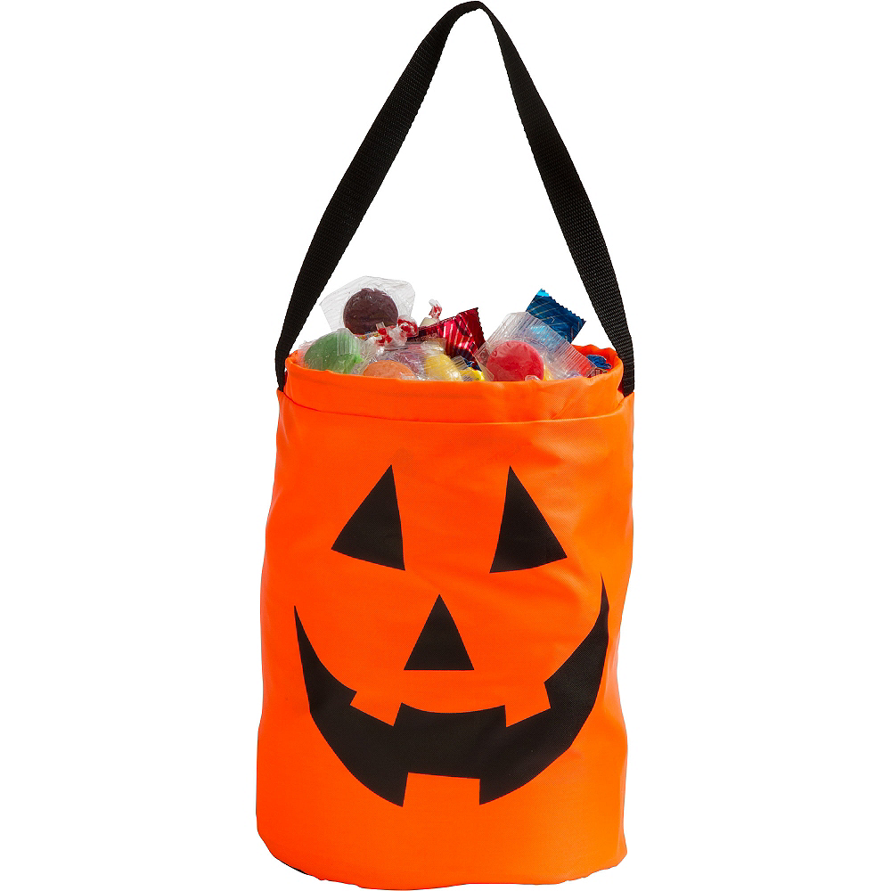 Jack-o'-Lantern Drawstring Treat Bag Image #3