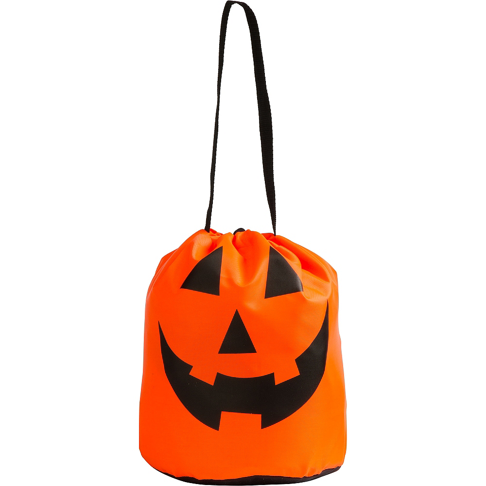 Jack-o'-Lantern Drawstring Treat Bag Image #4