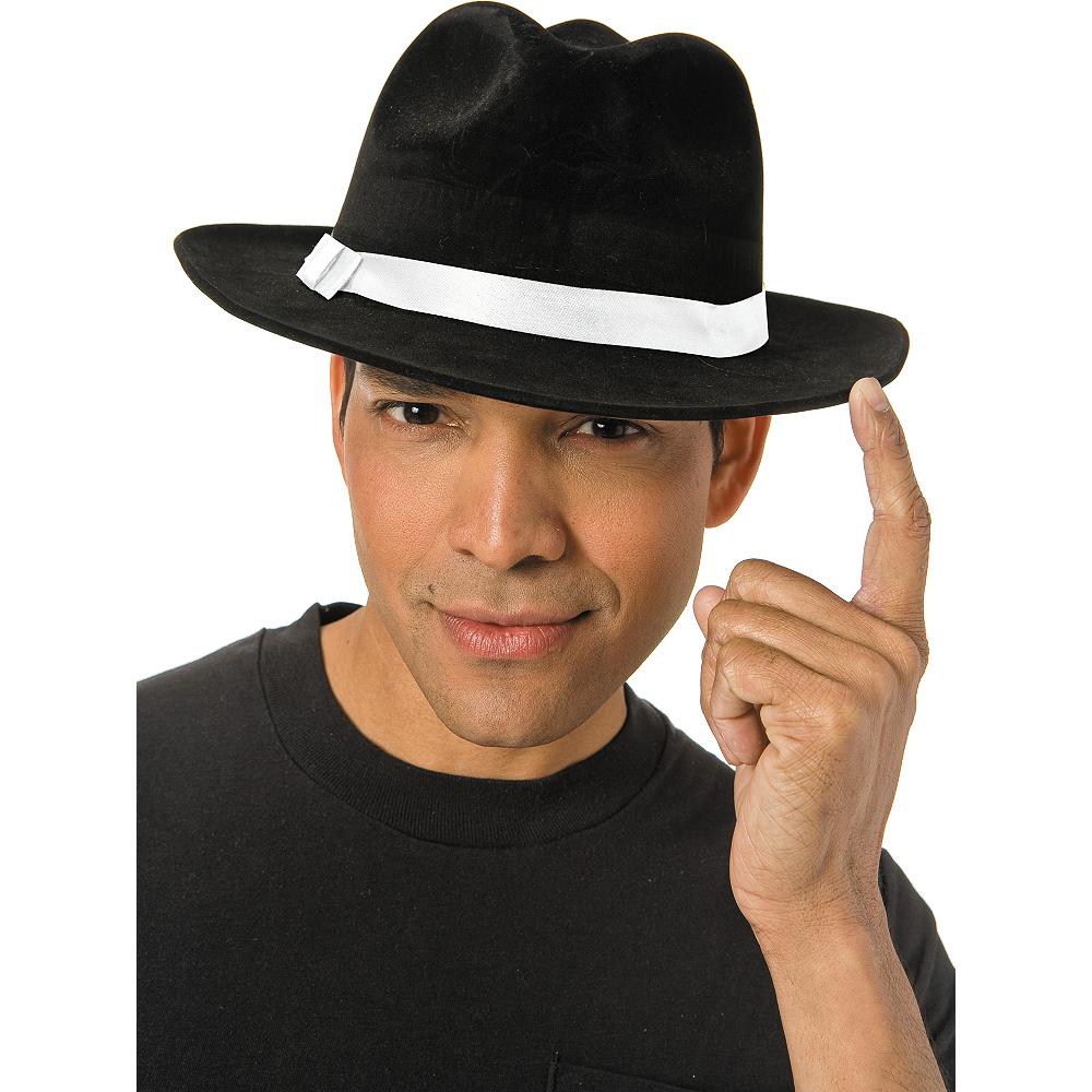 Black Gangster Hat Image #2