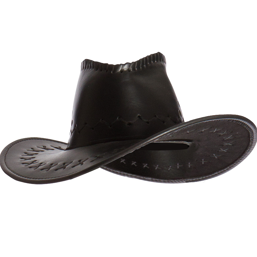 Faux Leather Cowboy Hat Image #1
