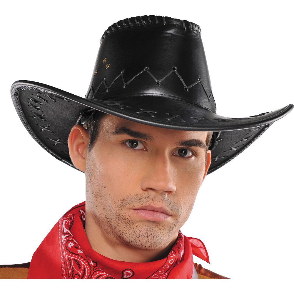 Faux Leather Cowboy Hat Image #2