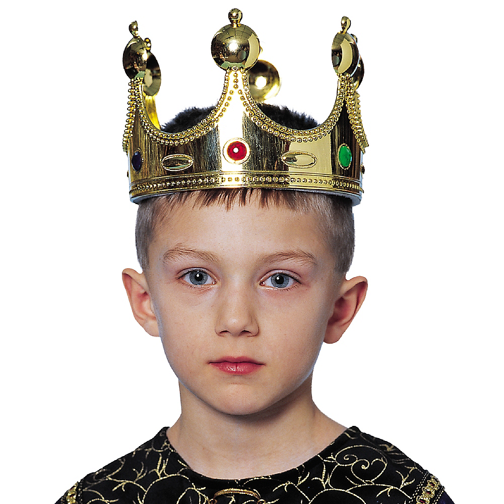 Child Jeweled King Crown Image #2