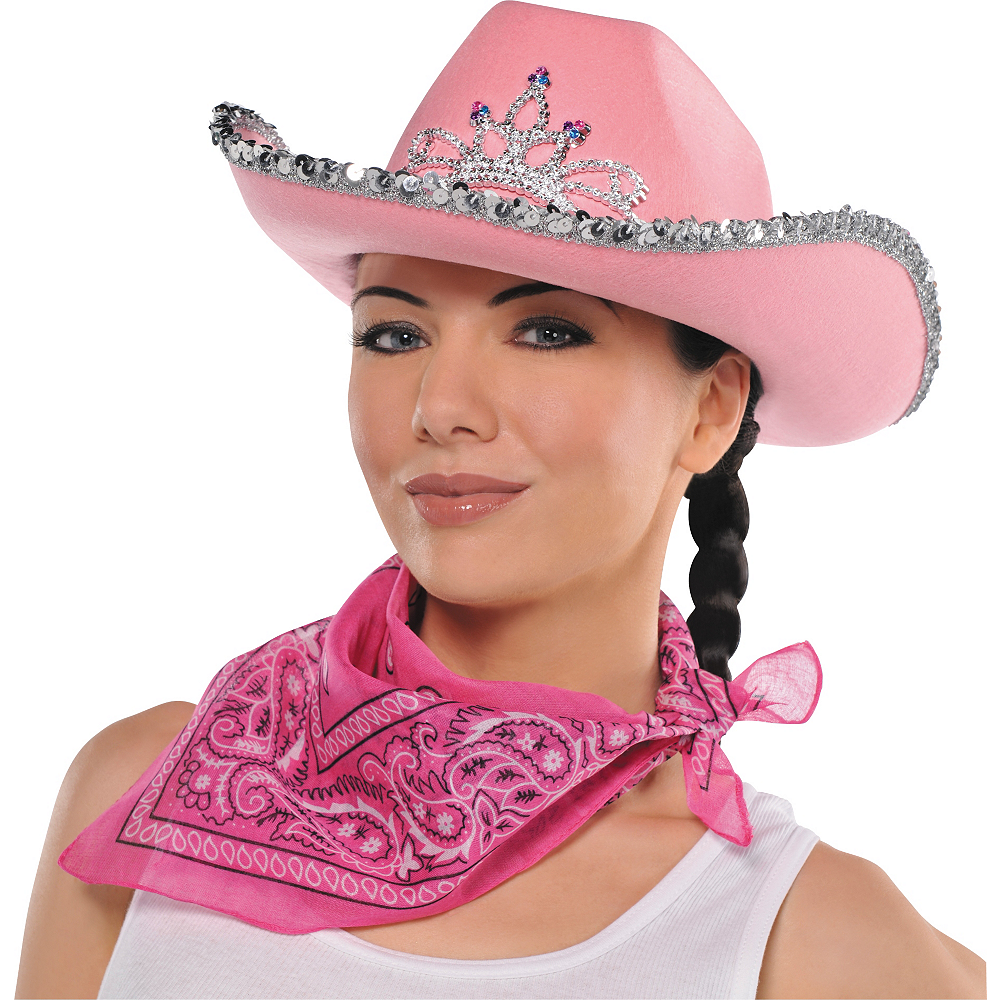 Nav Item for Pink Rhinestone Cowgirl Hat Image #2