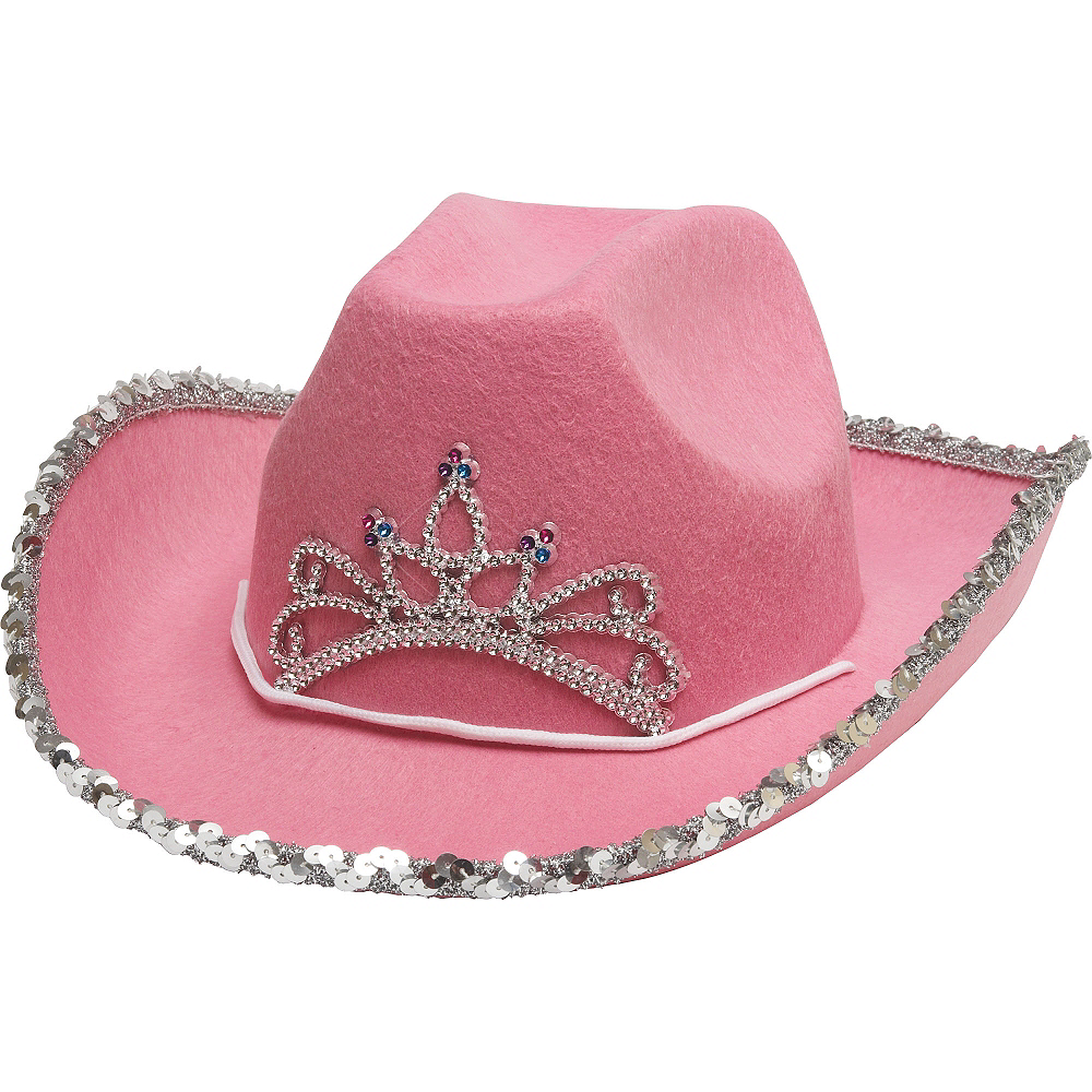 Nav Item for Pink Rhinestone Cowgirl Hat Image #3