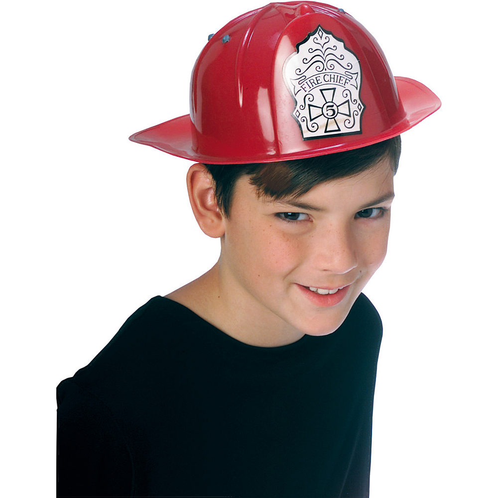 Red Firefighter Hat Image #2