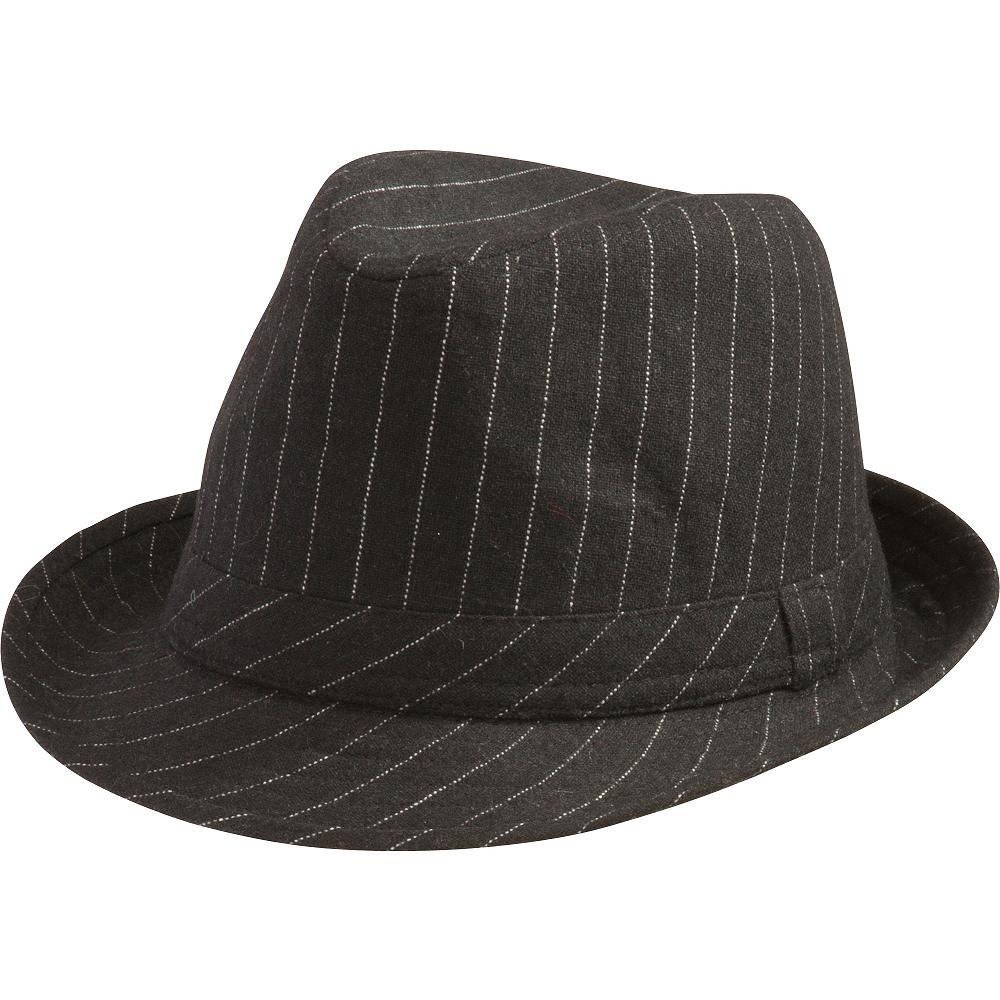Nav Item for Pinstripe Fedora Hat Image #1