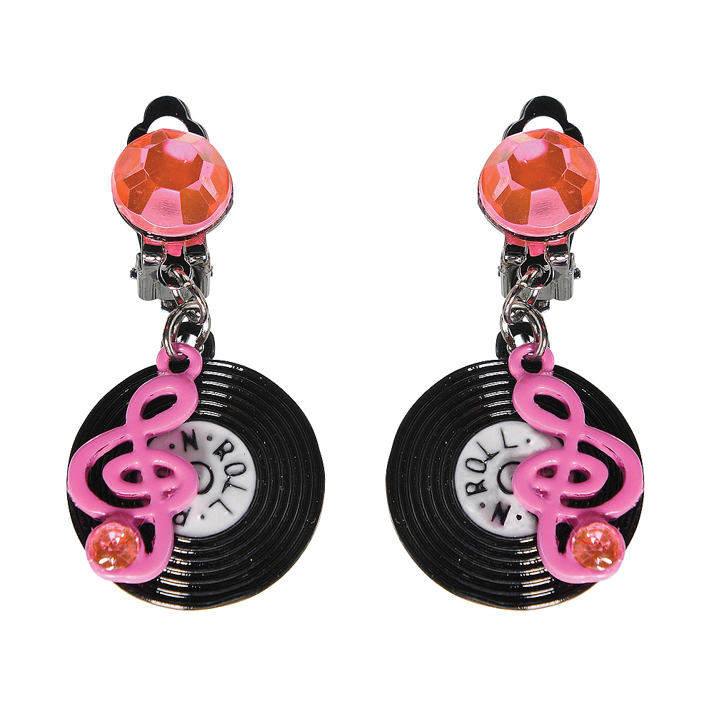 50s Rock n Roll Record Earrings Image #1