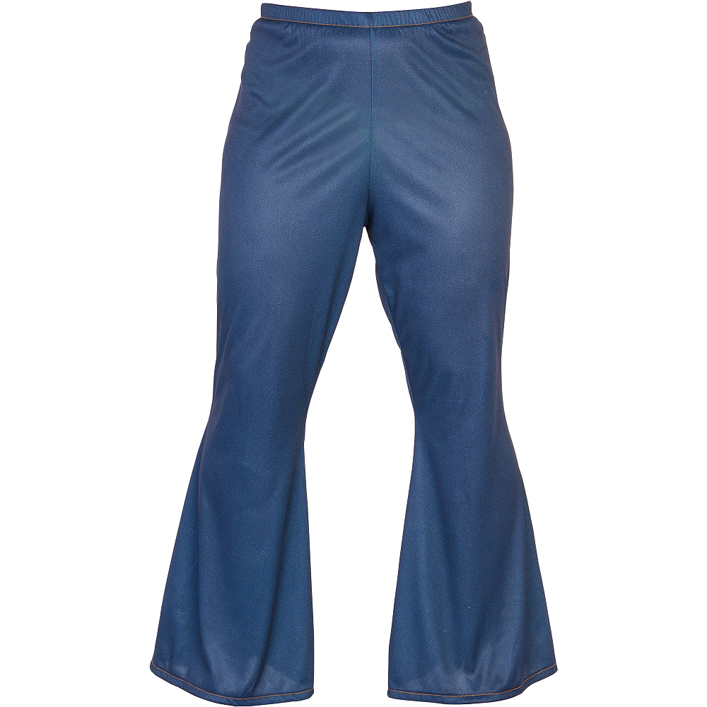 Adult Blue Bell Bottom Jeans Image #1