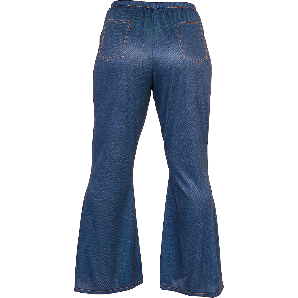 Adult Blue Bell Bottom Jeans Image #2