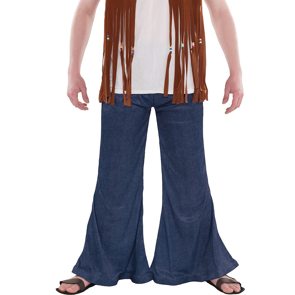 Adult Blue Bell Bottom Jeans Image #3