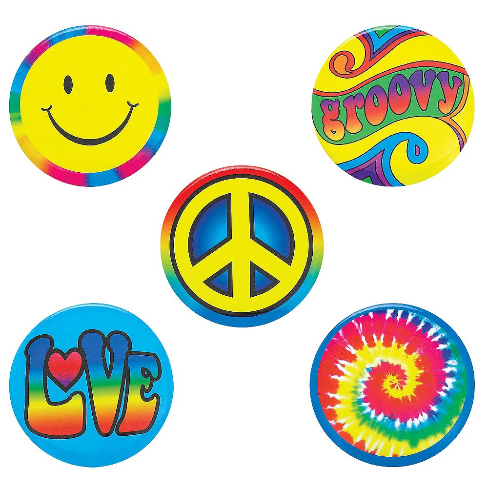 Hippie Buttons 5ct Image #1