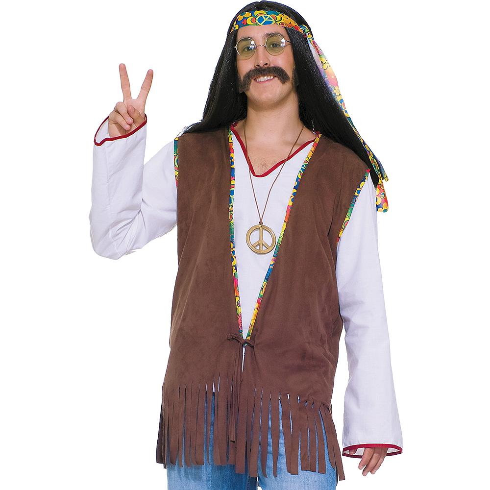 Adult Hippie Fringe Vest Image #1