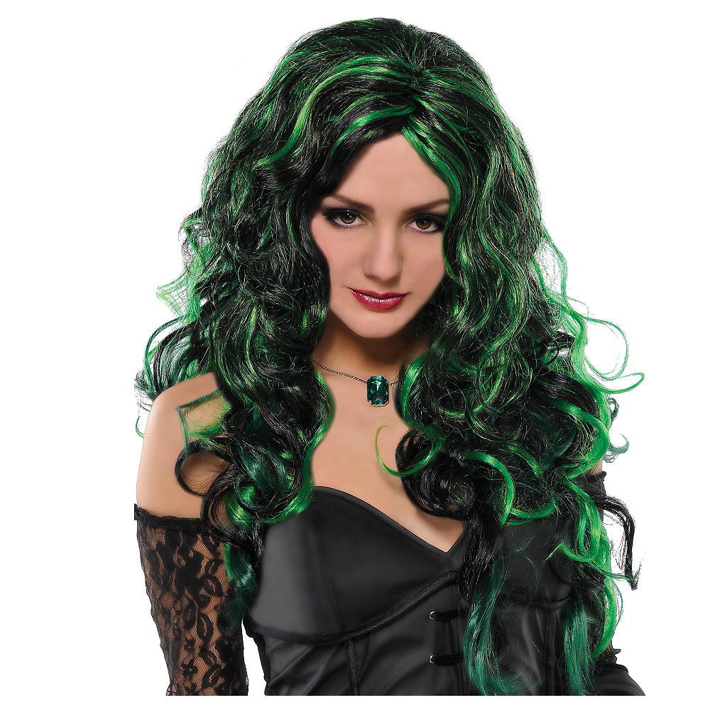 Green Witch Wig Image #1