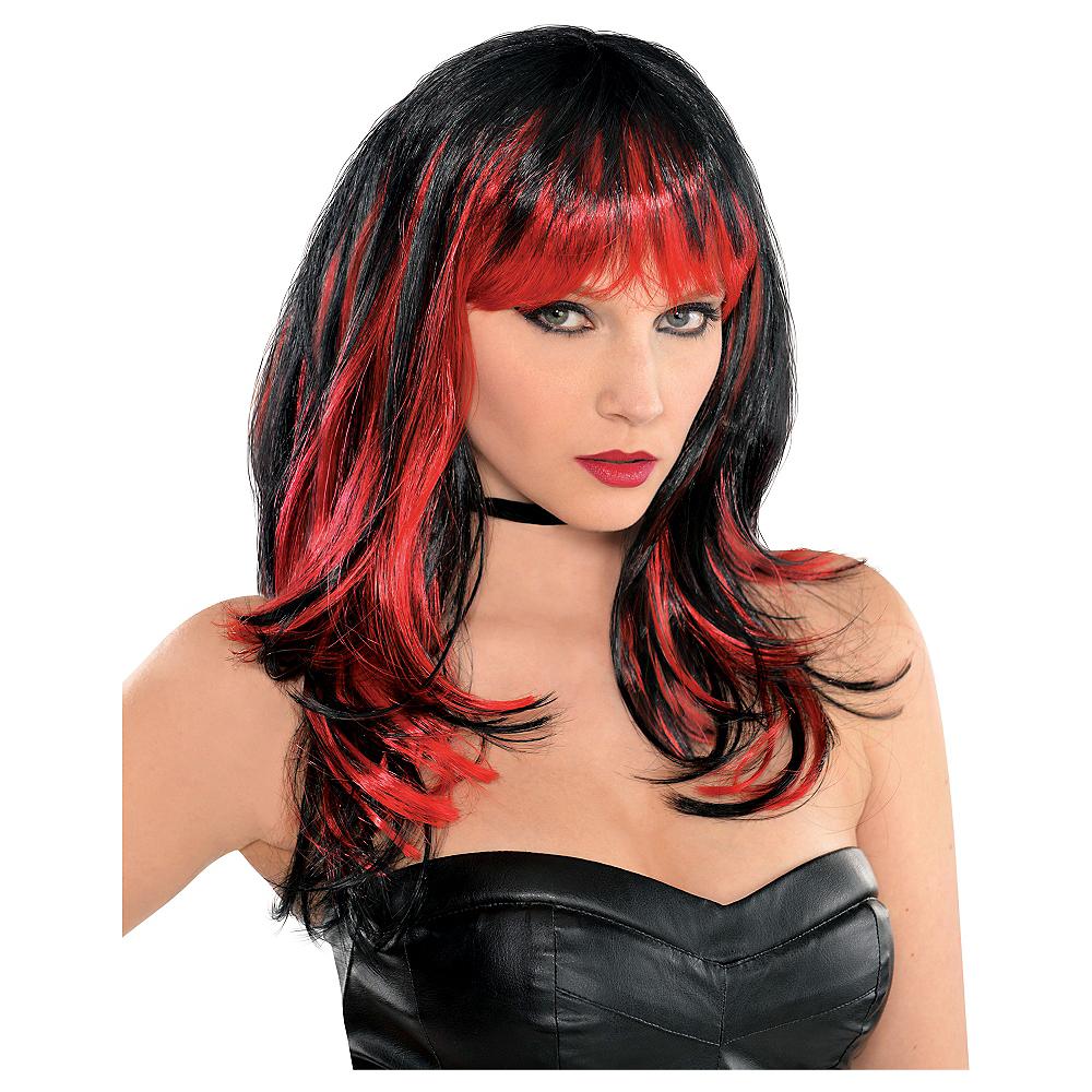 Enchantress Red & Black Wig Image #1