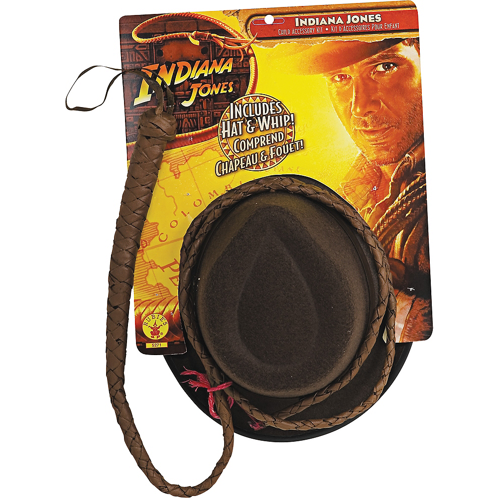 Indiana Jones Hat & Whip Set Image #3