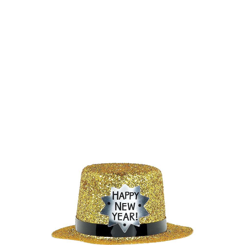 Glitter New Year's Mini Top Hat Image #2