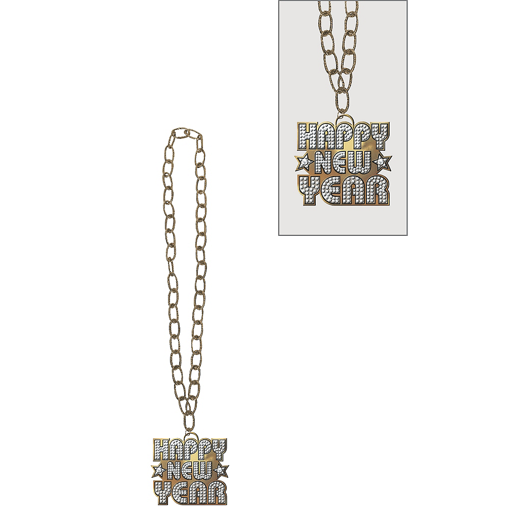Happy New Year Bling Necklace Image #1