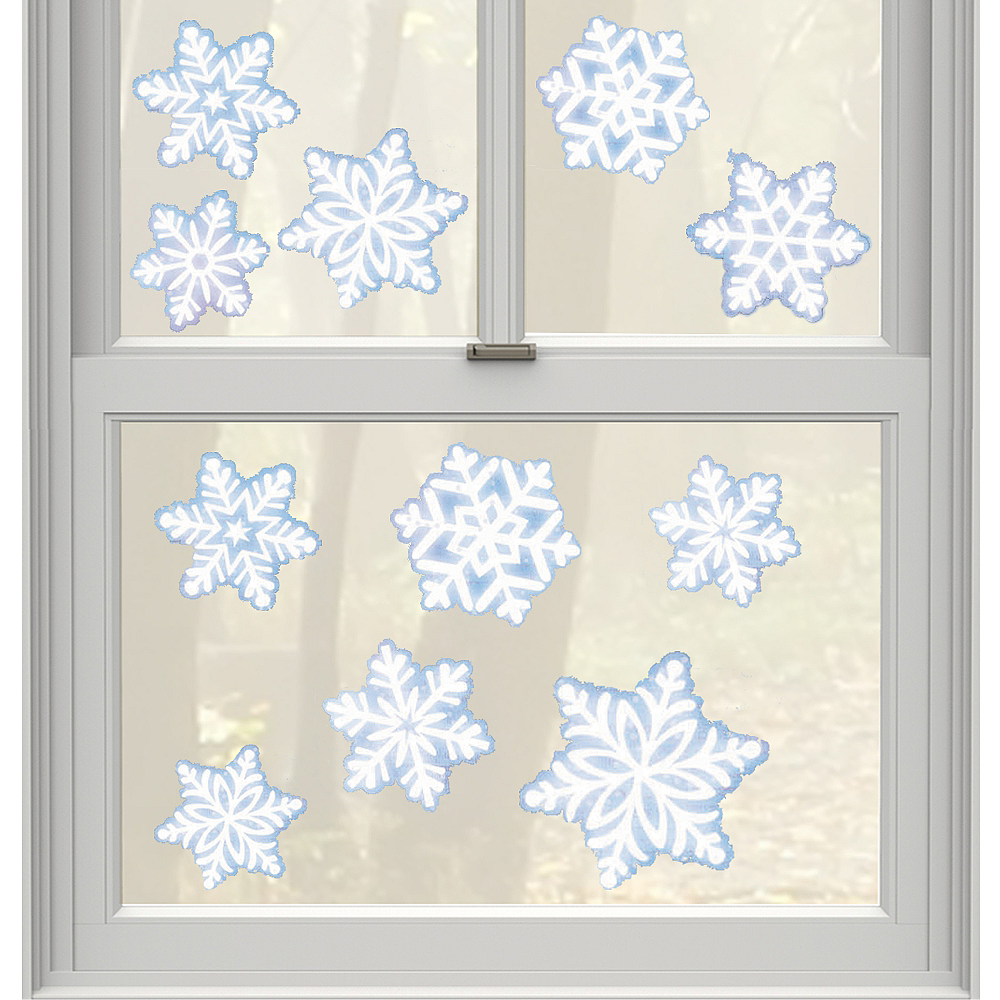 Snowflake Window Cling Decals 11ct Image #1