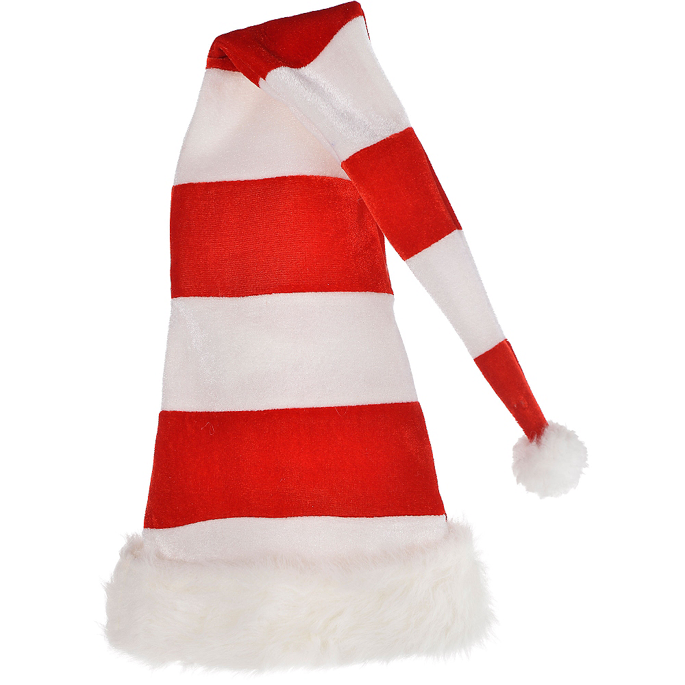 Tall Striped Santa Hat Image #1