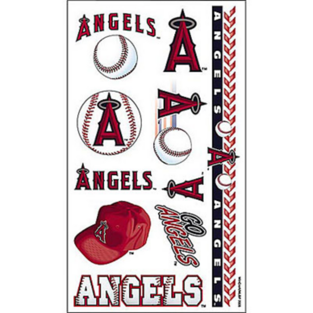 Los Angeles Angels Tattoos 10ct Image #1