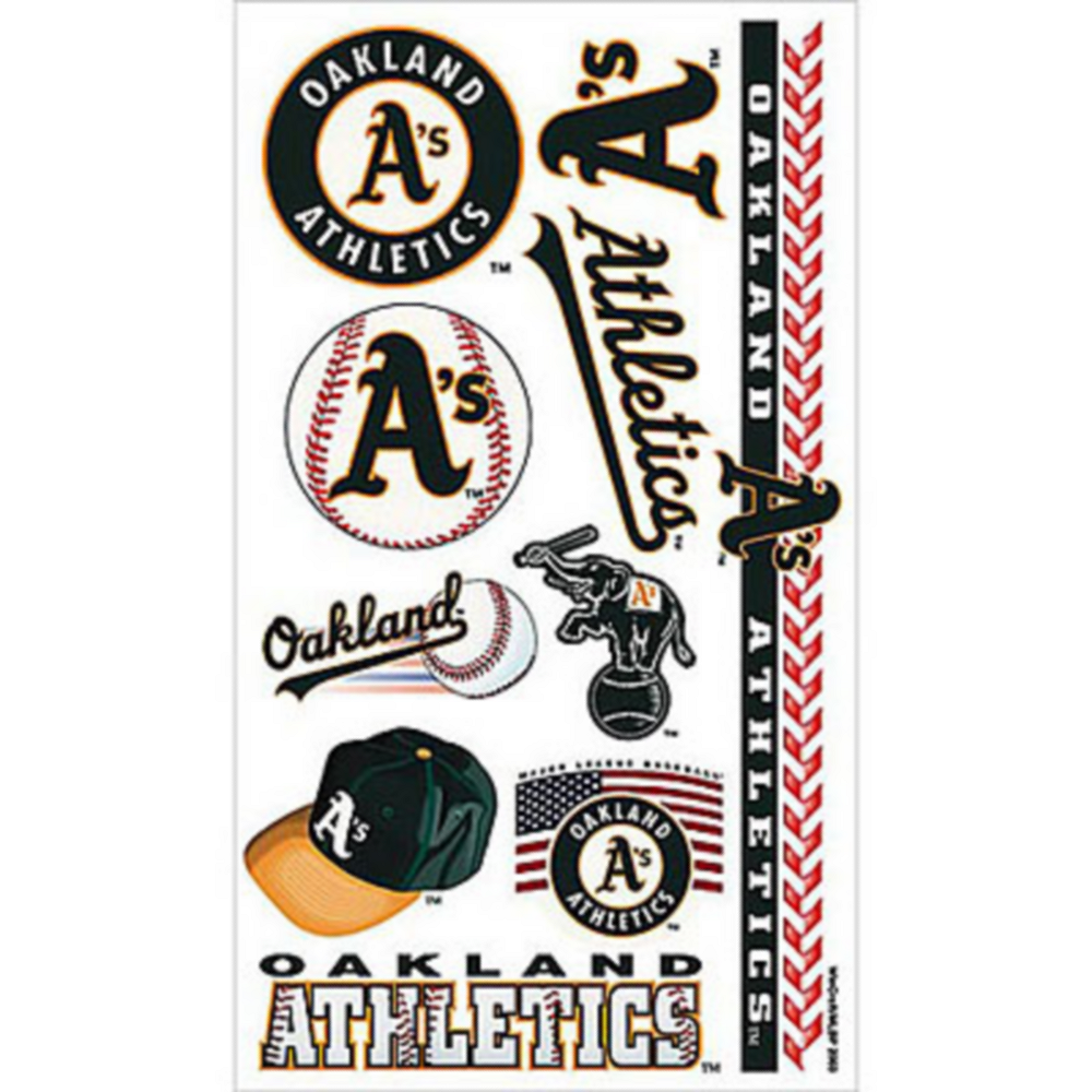 Oakland Athletics Tattoos 10ct Image #1