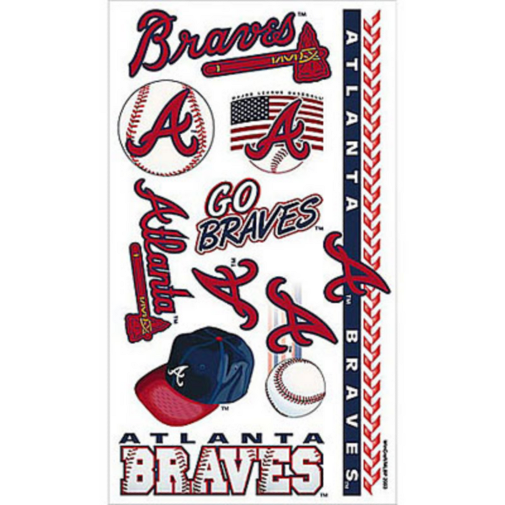 Atlanta Braves Tattoos 10ct Image #1