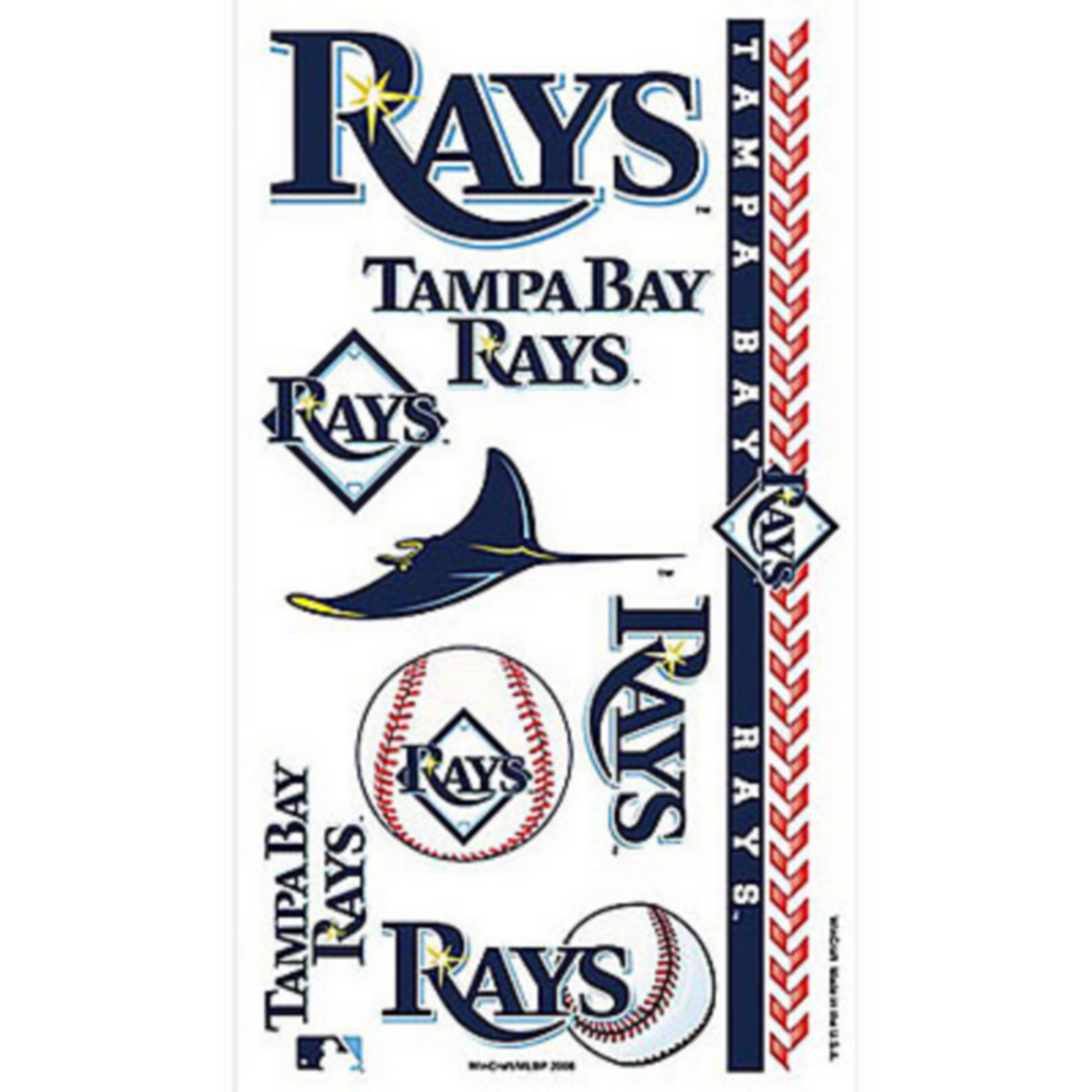 Tampa Bay Rays Tattoos 10ct Image #1