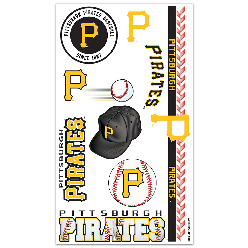Nav Item for Pittsburgh Pirates Tattoos 10ct Image #1