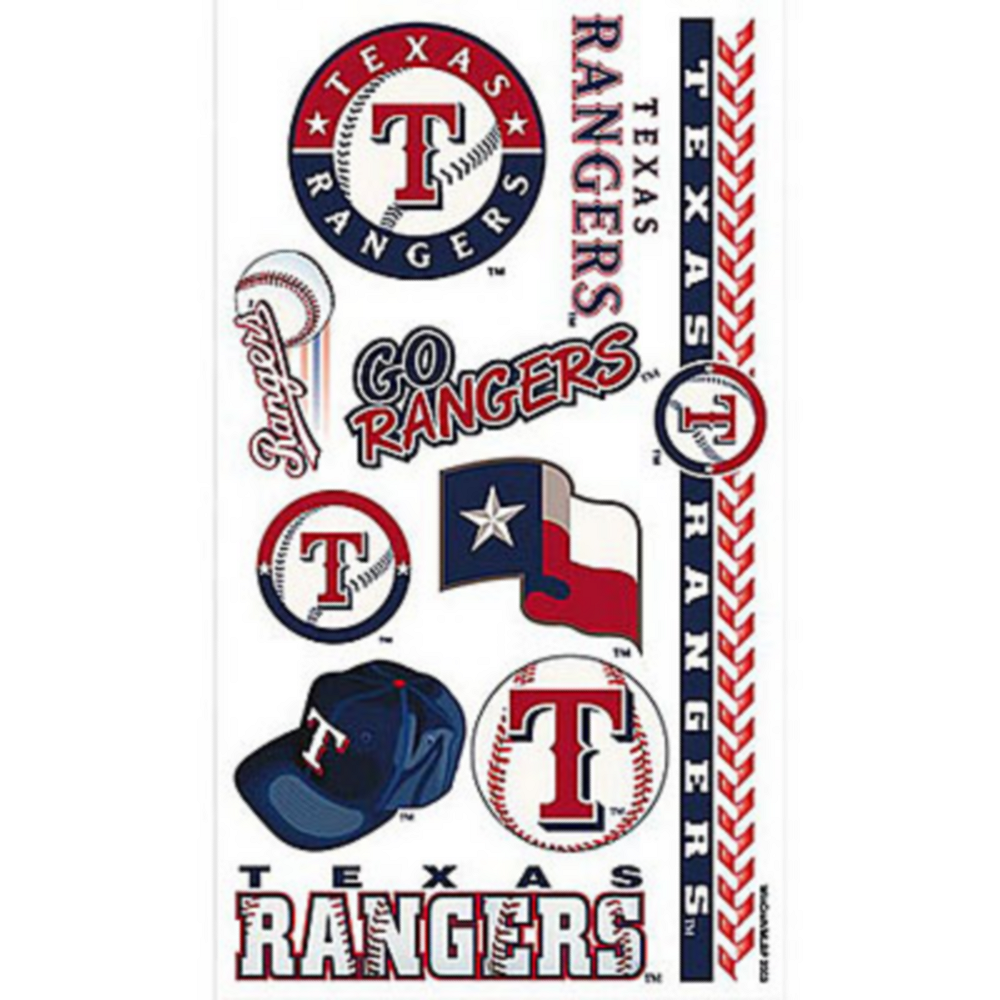 Texas Rangers Tattoos 10ct Image #1