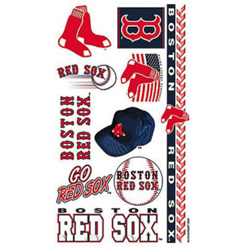 Boston Red Sox Tattoos 10ct Image #1