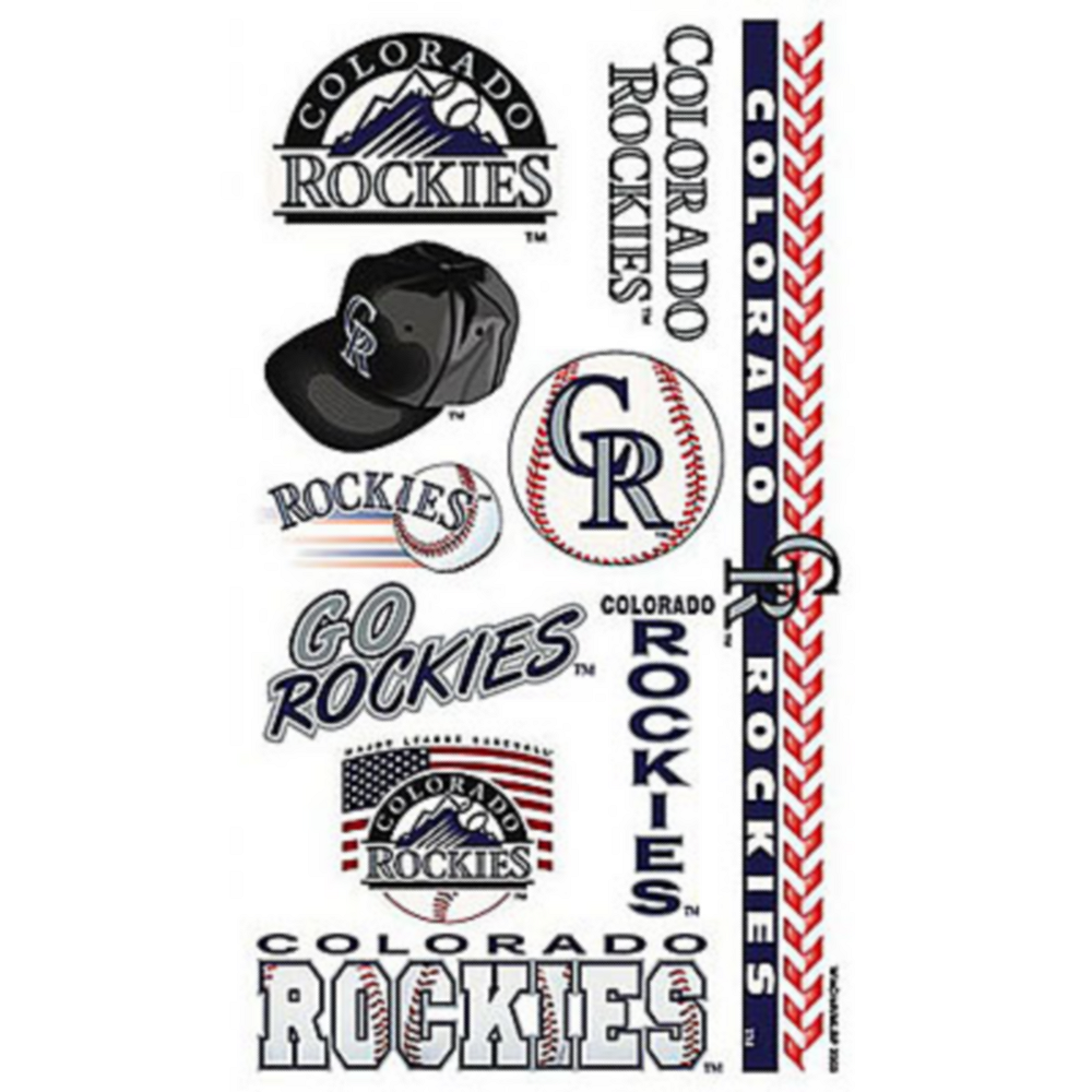 Colorado Rockies Tattoos 10ct Image #1