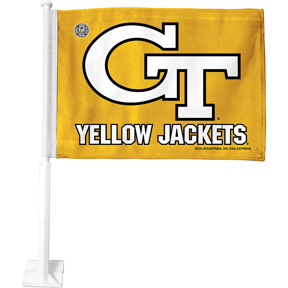 Georgia Tech Yellow Jackets Car Flag Image #1