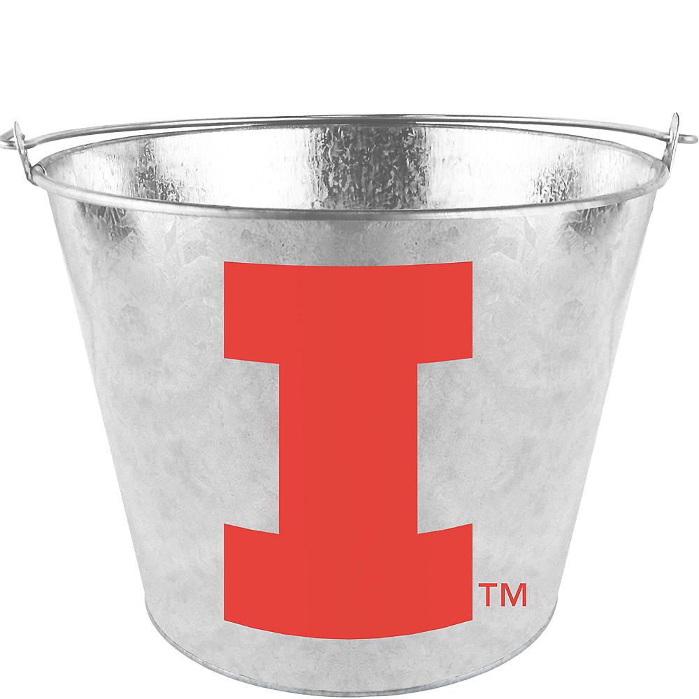 Illinois Fighting Illini Galvanized Bucket Image #1