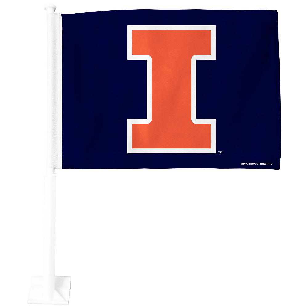 Illinois Fighting Illini Car Flag Image #1
