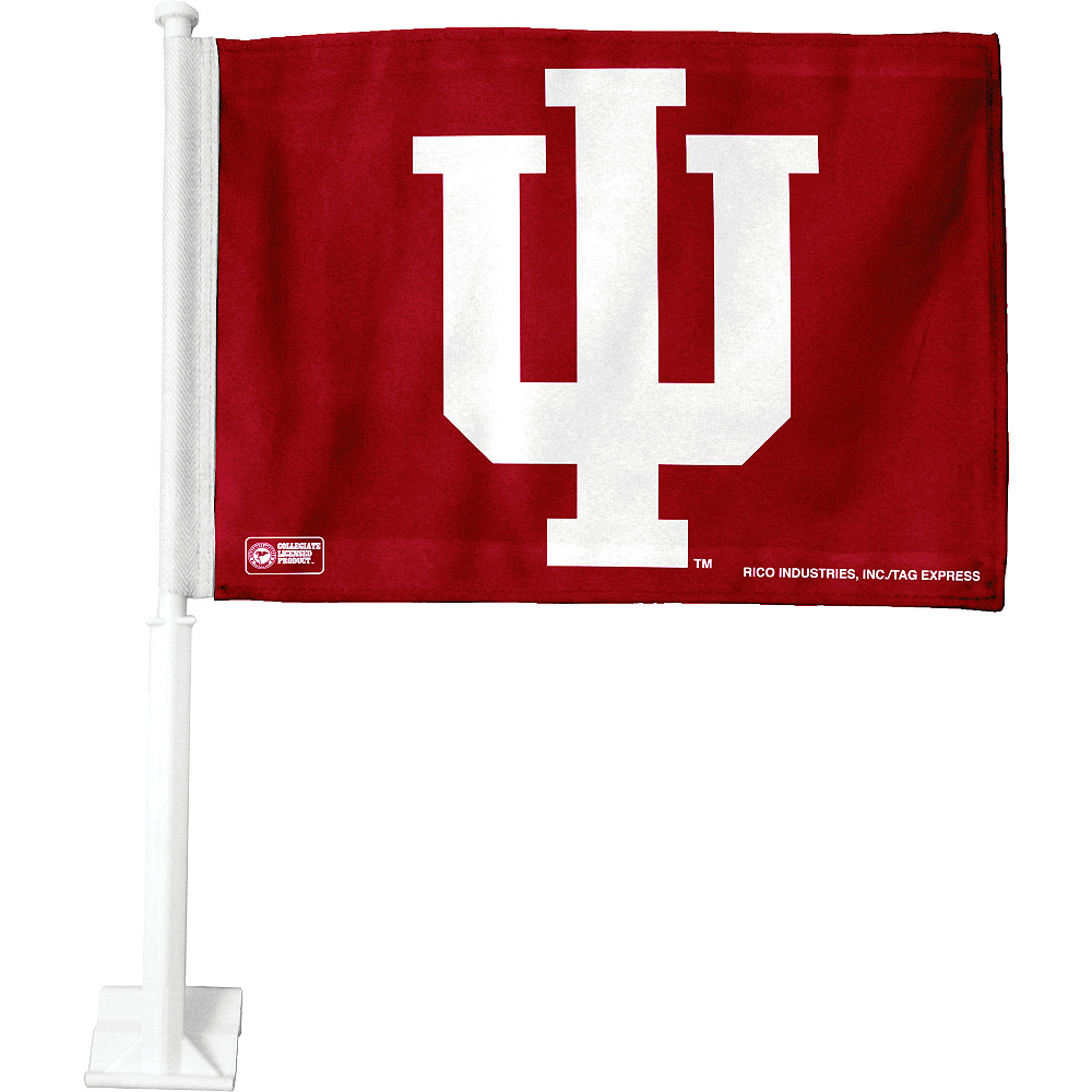 Indiana Hoosiers Car Flag Image #1