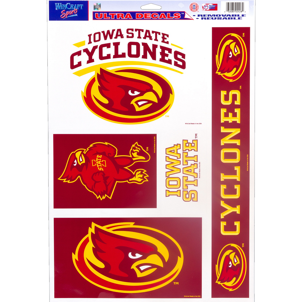 Iowa State Cyclones Decals 5ct Image #1